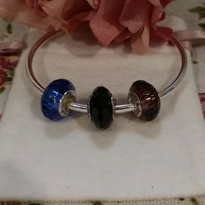 Faux Set of 3 Pandora Murano Beads